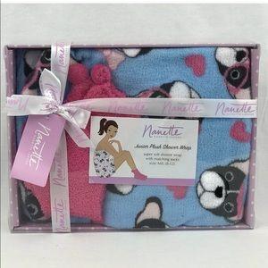 Nanette Shower Wrap Juniors M/L Bulldog Gift Set